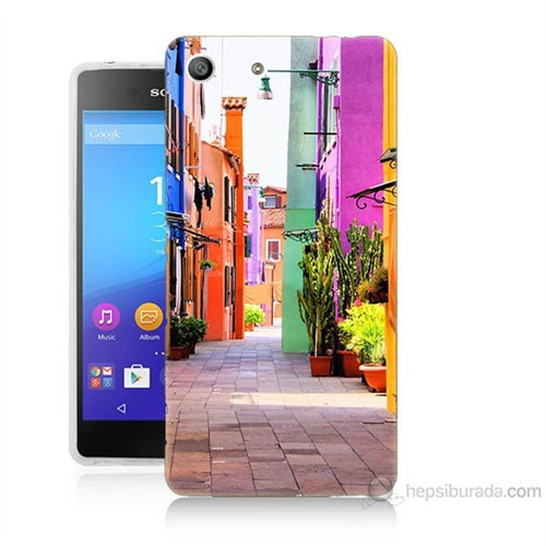Teknomeg Sony Xperia M5 Sokak Baskılı Silikon Kılıf