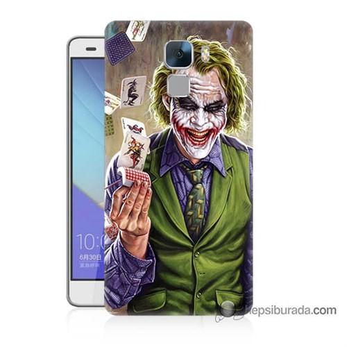 Teknomeg Huawei Honor 7 Kılıf Kapak Kartlı Joker Baskılı Silikon