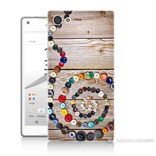 Teknomeg Sony Xperia Z5 Düğmeler Baskılı Silikon Kılıf