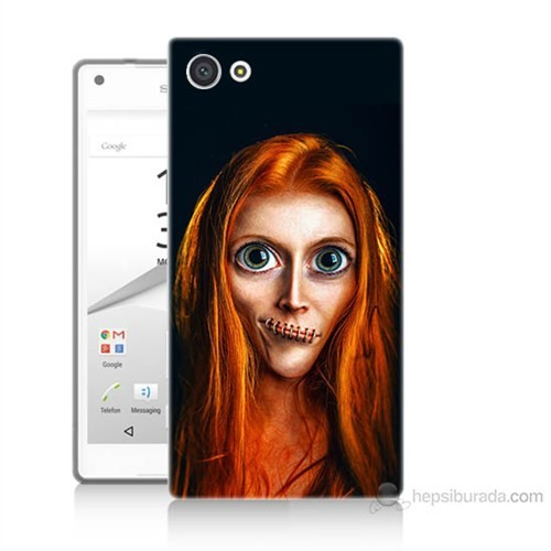 Teknomeg Sony Xperia Z5 Zombie Kız Baskılı Silikon Kılıf