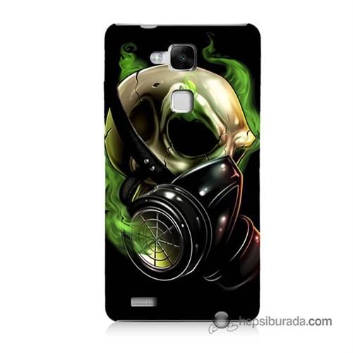 Teknomeg Huawei Mate 7 Kapak Kılıf Ölüm Maskesi Baskılı Silikon