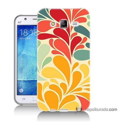 Teknomeg Samsung Galaxy J7 Kapak Kılıf Çiçekler Baskılı Silikon