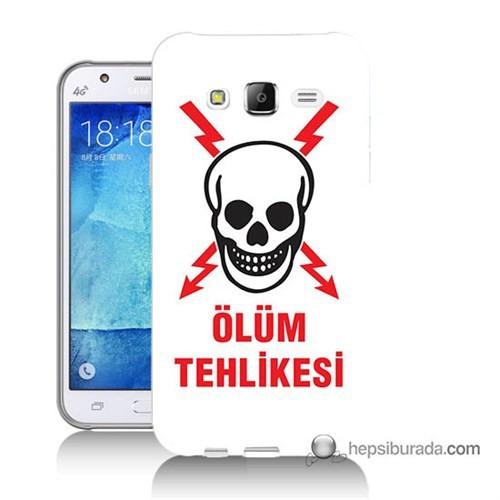Teknomeg Samsung Galaxy J7 Kapak Kılıf Ölüm Tehlikesi Baskılı Silikon