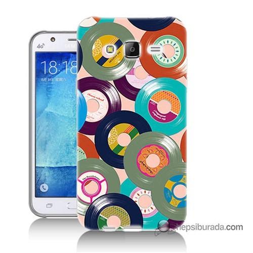 Teknomeg Samsung Galaxy J7 Kapak Kılıf Renkli Plaklar Baskılı Silikon