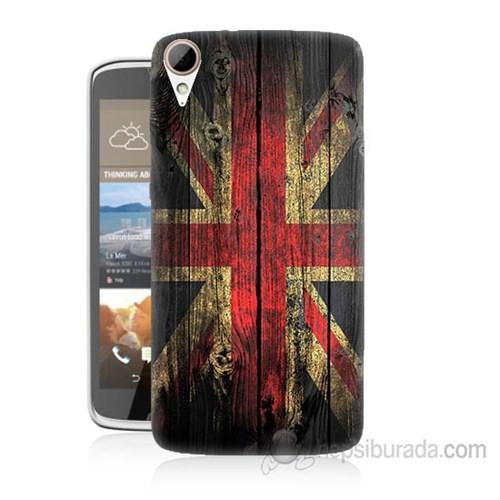Teknomeg Htc Desire 828 İngiliz Bayrağı Baskılı Silikon Kapak Kılıf