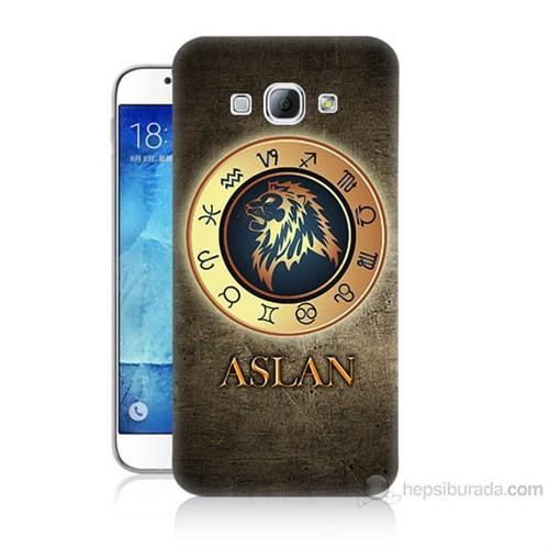 Teknomeg Samsung Galaxy A8 Aslan Burcu Baskılı Silikon Kılıf