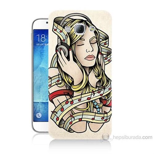 Teknomeg Samsung Galaxy A8 Müzik Aşkı Baskılı Silikon Kılıf