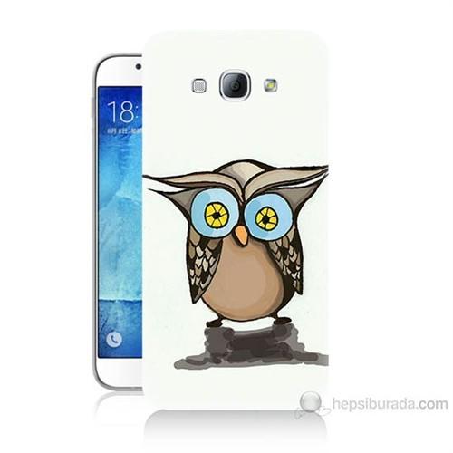 Teknomeg Samsung Galaxy A8 Baykuş Baskılı Silikon Kılıf