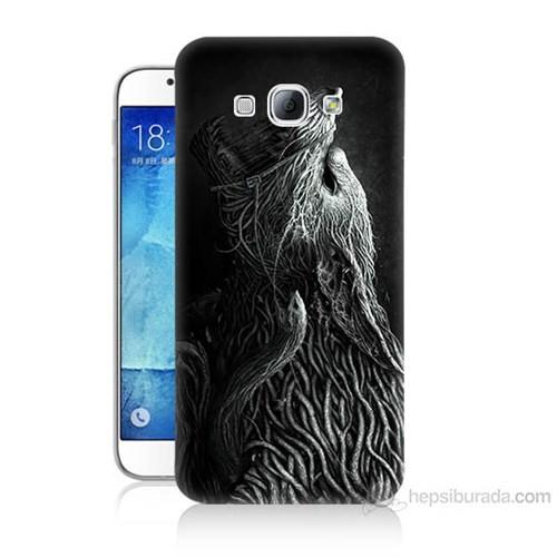 Teknomeg Samsung Galaxy A8 Savaşçı Kurt Baskılı Silikon Kılıf