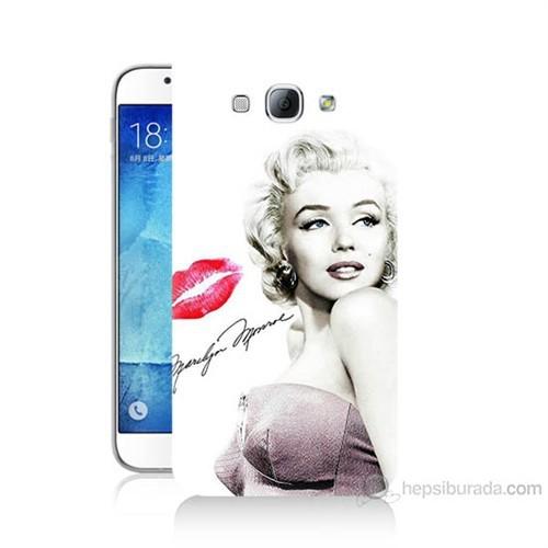 Teknomeg Samsung Galaxy A8 Marilyn Monroe Baskılı Silikon Kılıf