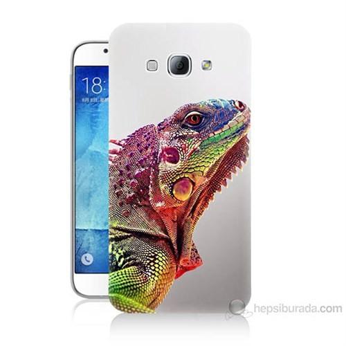 Teknomeg Samsung Galaxy A8 İguana Baskılı Silikon Kılıf