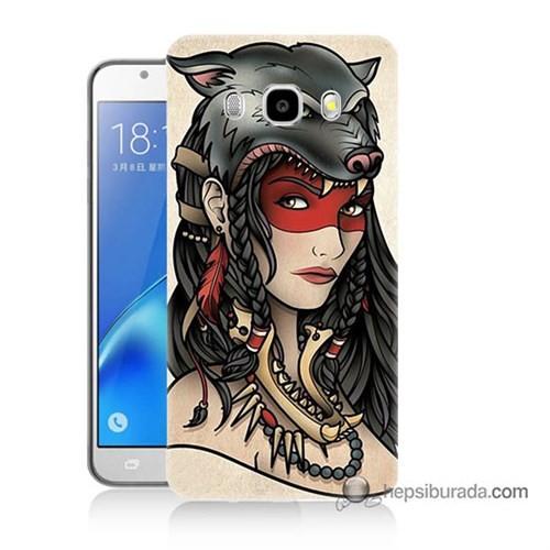 Teknomeg Samsung J5 2016 Kapak Kılıf Pocahontas Baskılı Silikon