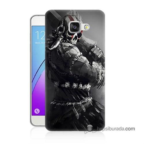 Teknomeg Samsung Galaxy A3 2016 Kılıf Kapak Tribal Warrior Baskılı Silikon