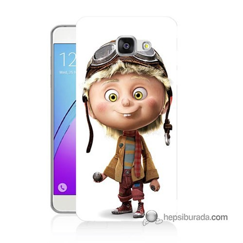 Teknomeg Samsung Galaxy A7 2016 Kılıf Kapak Çizgi Karakter Baskılı Silikon