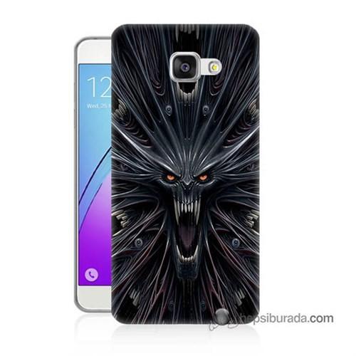 Teknomeg Samsung Galaxy A7 2016 Kılıf Kapak Korku Canavarı Baskılı Silikon