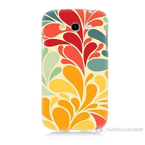 Teknomeg Samsung Galaxy Grand Neo İ9060 Çiçekler Baskılı Silikon Kılıf
