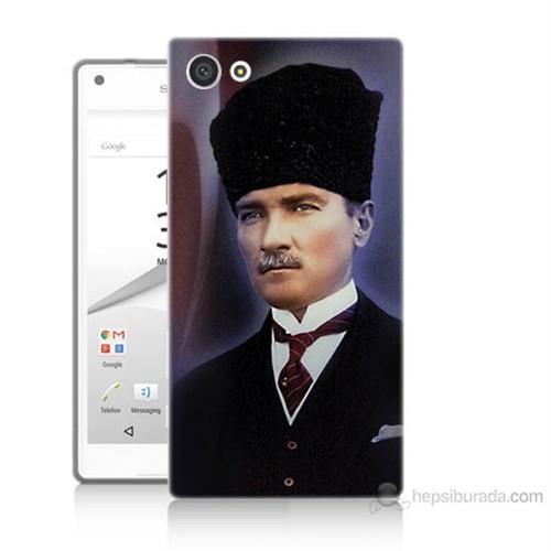 Teknomeg Sony Xperia Z5 Mustafa Kemal Atatürk Baskılı Silikon Kılıf