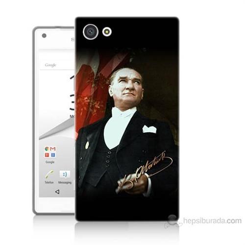 Teknomeg Sony Xperia Z5 M.K.Atatürk Baskılı Silikon Kılıf