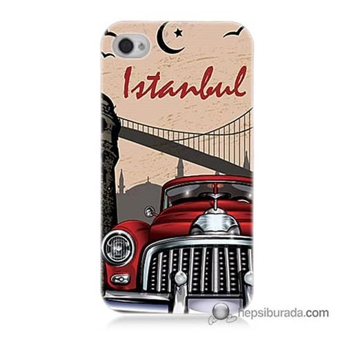 Teknomeg İphone 4 Kapak Kılıf İstanbul Baskılı Silikon