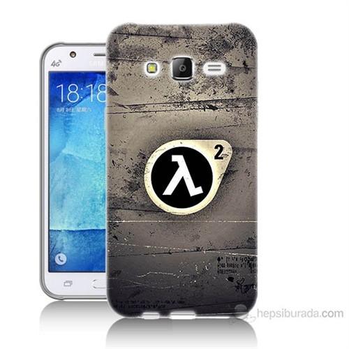 Teknomeg Samsung Galaxy J7 Kapak Kılıf Half Life Baskılı Silikon