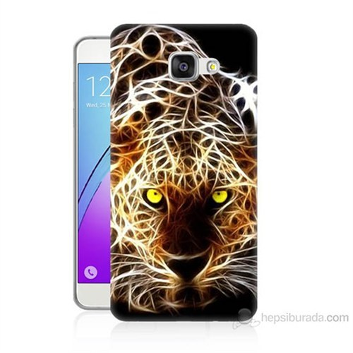 Teknomeg Samsung Galaxy A7 2016 Kapak Kılıf Yanan Aslan Baskılı Silikon