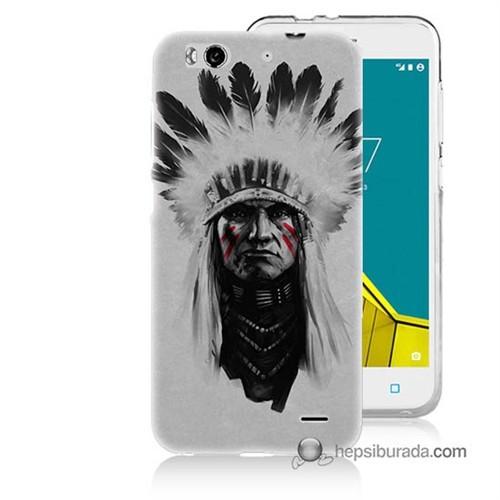 Teknomeg Vodafone Smart 6 Kılıf Kapak Geronimo Baskılı Silikon