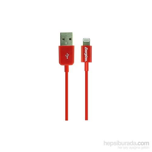 Energizer LCAEHUSYIPRD2 Lightning Usb 1m Kırmızı Data + Şarj Kablosu - LCAEHUSYIPRD2