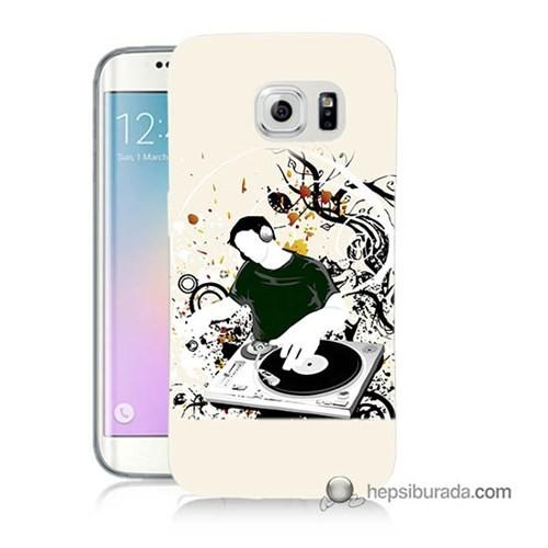 Teknomeg Samsung Galaxy S6 Edge Plus Kılıf Kapak Disc Jokey Baskılı Silikon