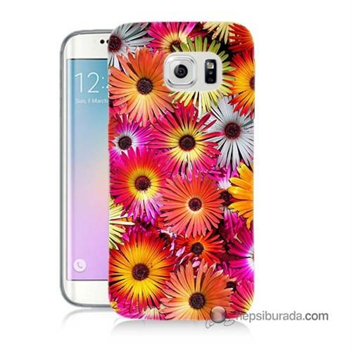 Teknomeg Samsung Galaxy S6 Edge Plus Kılıf Kapak Kasımpatı Baskılı Silikon
