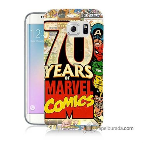 Teknomeg Samsung Galaxy S6 Edge Plus Kılıf Kapak Marvel Karakterleri Baskılı Silikon