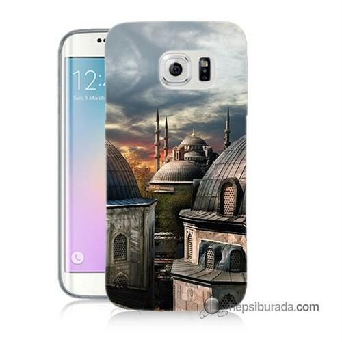 Teknomeg Samsung Galaxy S6 Edge Plus Kapak Kılıf Cami Baskılı Silikon