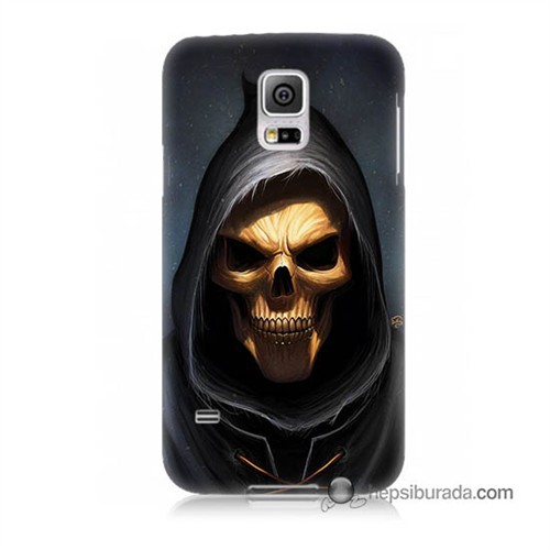 Teknomeg Samsung Galaxy S5 Kılıf Kapak Ölüm Meleği Baskılı Silikon