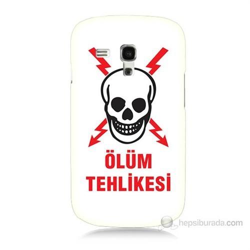 Teknomeg Samsung Galaxy S3 Mini Ölüm Tehlikesi Baskılı Silikon Kılıf
