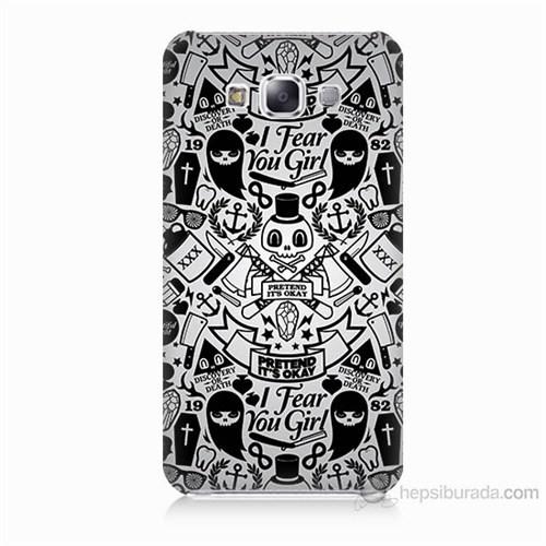 Teknomeg Samsung Galaxy E5 Karikatür Baskılı Silikon Kılıf
