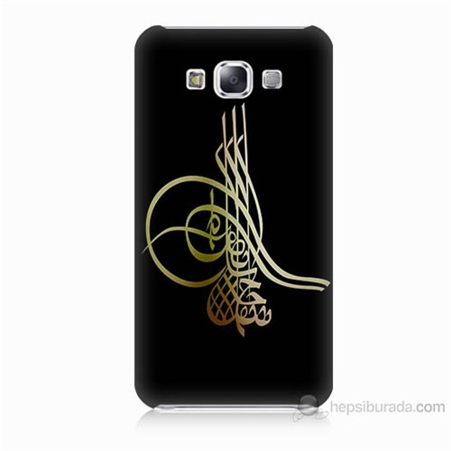 Teknomeg Samsung Galaxy E5 Tuğra Osmanlı Baskılı Silikon Kılıf