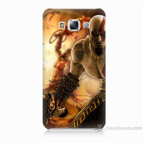 Teknomeg Samsung Galaxy E5 Kapak Kılıf God Of War Baskılı Silikon