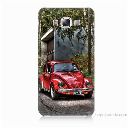 Teknomeg Samsung Galaxy E5 Kapak Kılıf Volkswagen Baskılı Silikon