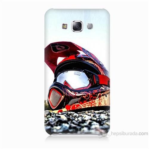 Teknomeg Samsung Galaxy E5 Kapak Kılıf Kask Baskılı Silikon