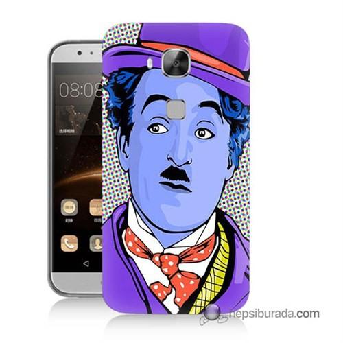 Teknomeg Huawei G8 Kapak Kılıf Charlie Chaplin Baskılı Silikon