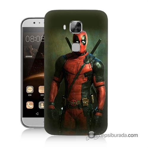 Teknomeg Huawei G8 Kapak Kılıf Deadpool Baskılı Silikon