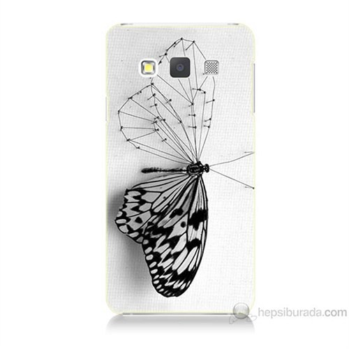 Teknomeg Samsung Galaxy A7 Kanatsız Kelebek Baskılı Silikon Kılıf