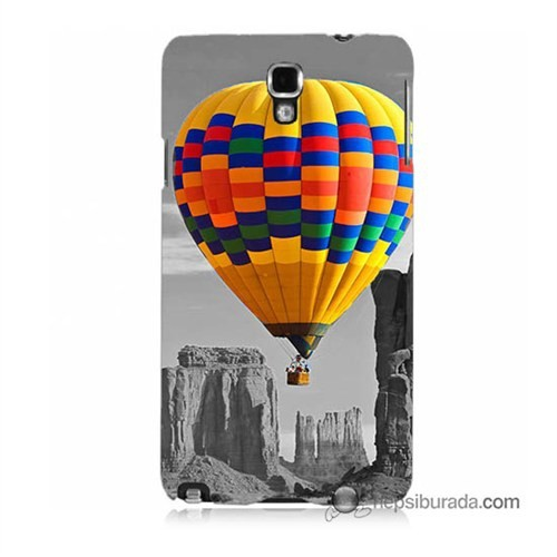 Teknomeg Samsung Galaxy Note 3 Neo Kılıf Kapak Renkli Uçan Balon Baskılı Silikon