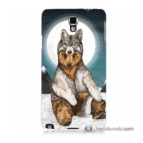 Teknomeg Samsung Galaxy Note 3 Neo Kapak Kılıf Postlu Ayı Baskılı Silikon