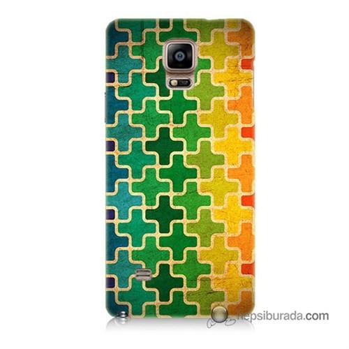 Teknomeg Samsung Galaxy Note 4 Kapak Kılıf Renkli Artı Baskılı Silikon