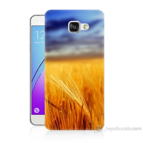 Teknomeg Samsung Galaxy A7 2016 Kapak Kılıf Sarı Mavi Baskılı Silikon