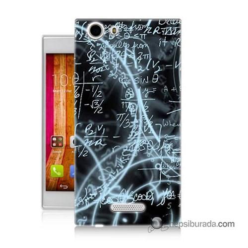 Teknomeg Casper Via V6 Kapak Kılıf Matematik Baskılı Silikon