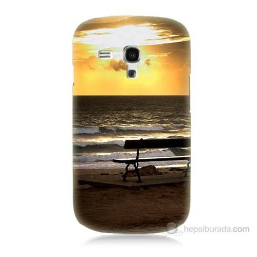 Teknomeg Samsung Galaxy S3 Mini Gün Batımı Baskılı Silikon Kılıf