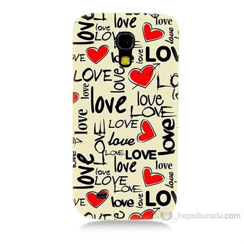 Teknomeg Samsung Galaxy S4 Mini Love Baskılı Silikon Kılıf