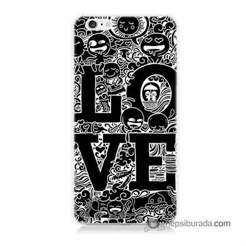 Teknomeg İphone 6S Plus Kapak Kılıf Love Baskılı Silikon