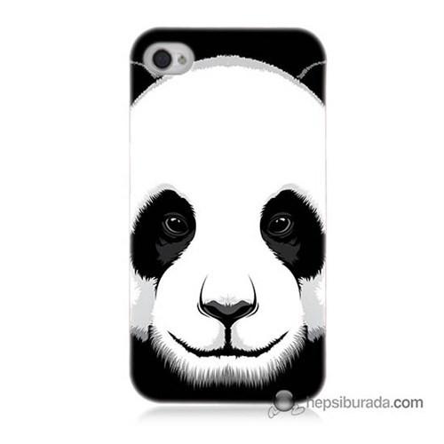 Teknomeg İphone 4 Kapak Kılıf Panda Baskılı Silikon